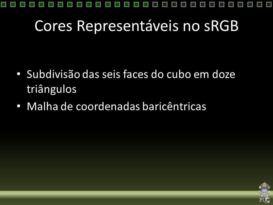 Cores Representáveis no sRGB