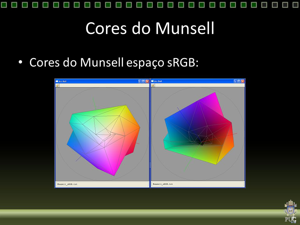 Cores do Munsell Cores do Munsell espaço sRGB: