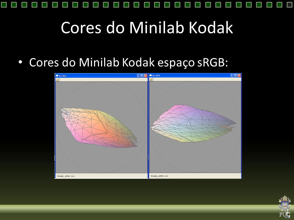 Cores do Minilab Kodak Cores do Minilab Kodak espaço sRGB: