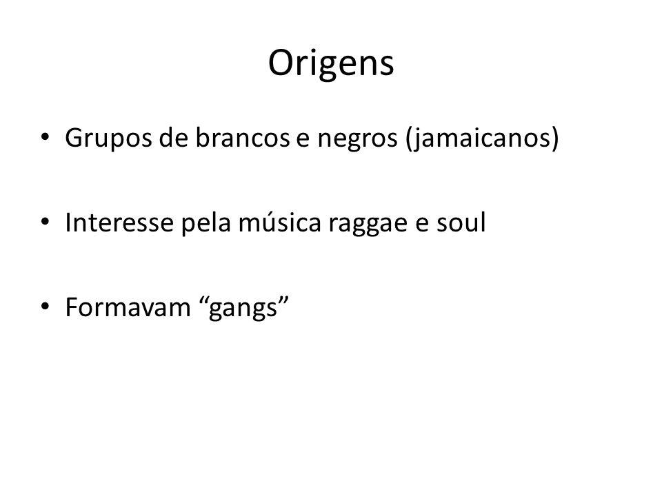 Origens Grupos de brancos e negros (jamaicanos)