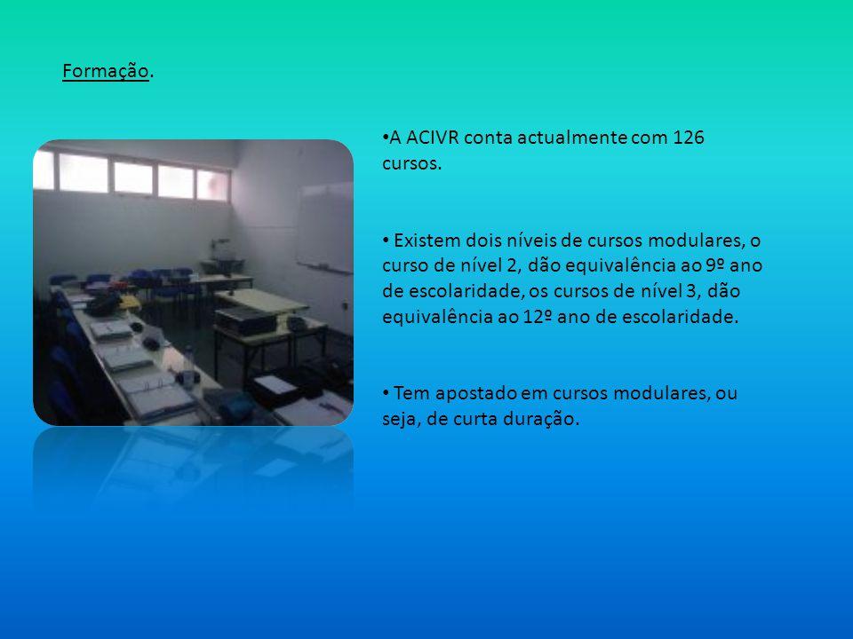 Formação. A ACIVR conta actualmente com 126 cursos.