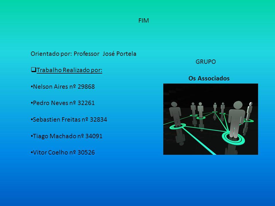 FIM Orientado por: Professor José Portela. GRUPO. Trabalho Realizado por: Os Associados.