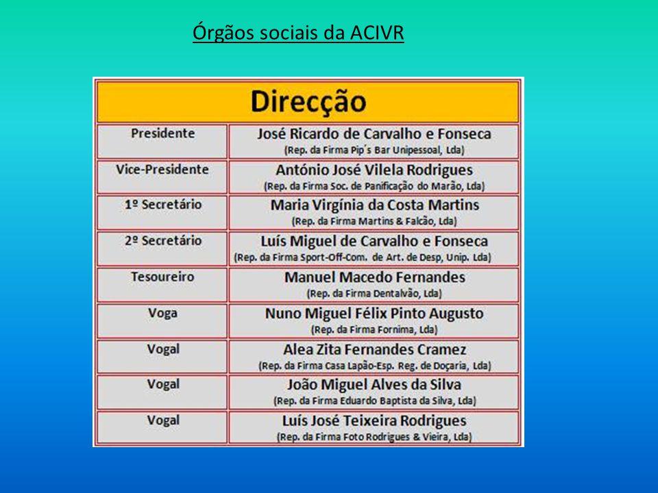 Órgãos sociais da ACIVR