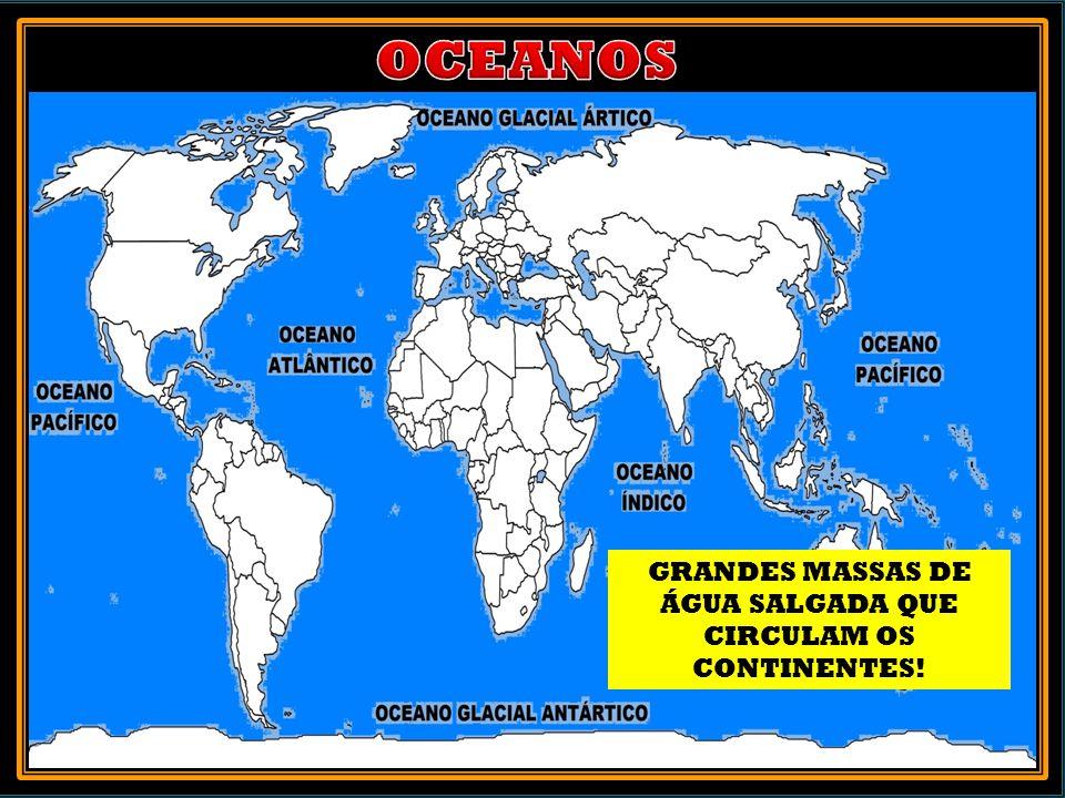 GRANDES MASSAS DE ÁGUA SALGADA QUE CIRCULAM OS CONTINENTES!