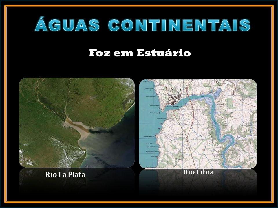 ÁGUAS CONTINENTAIS Foz em Estuário Rio Libra Rio La Plata