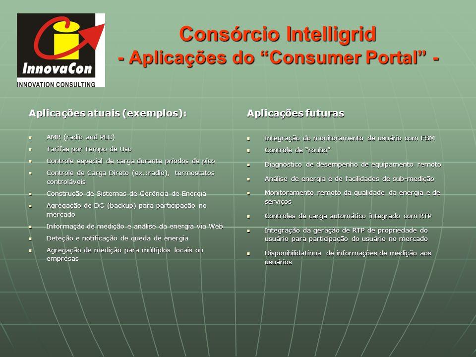 Consórcio Intelligrid - Aplicações do Consumer Portal -