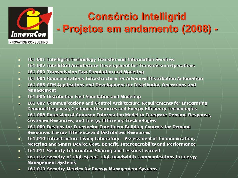 Consórcio Intelligrid - Projetos em andamento (2008) -