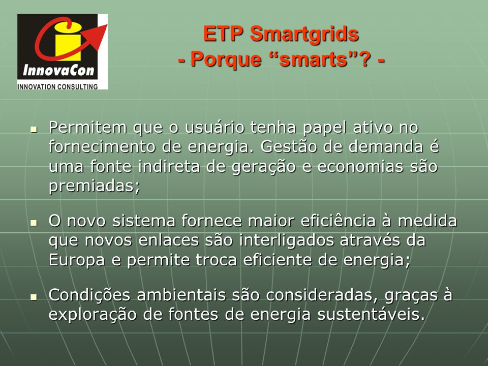 ETP Smartgrids - Porque smarts -