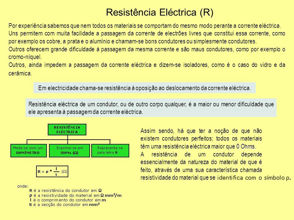 Resistência Eléctrica (R)