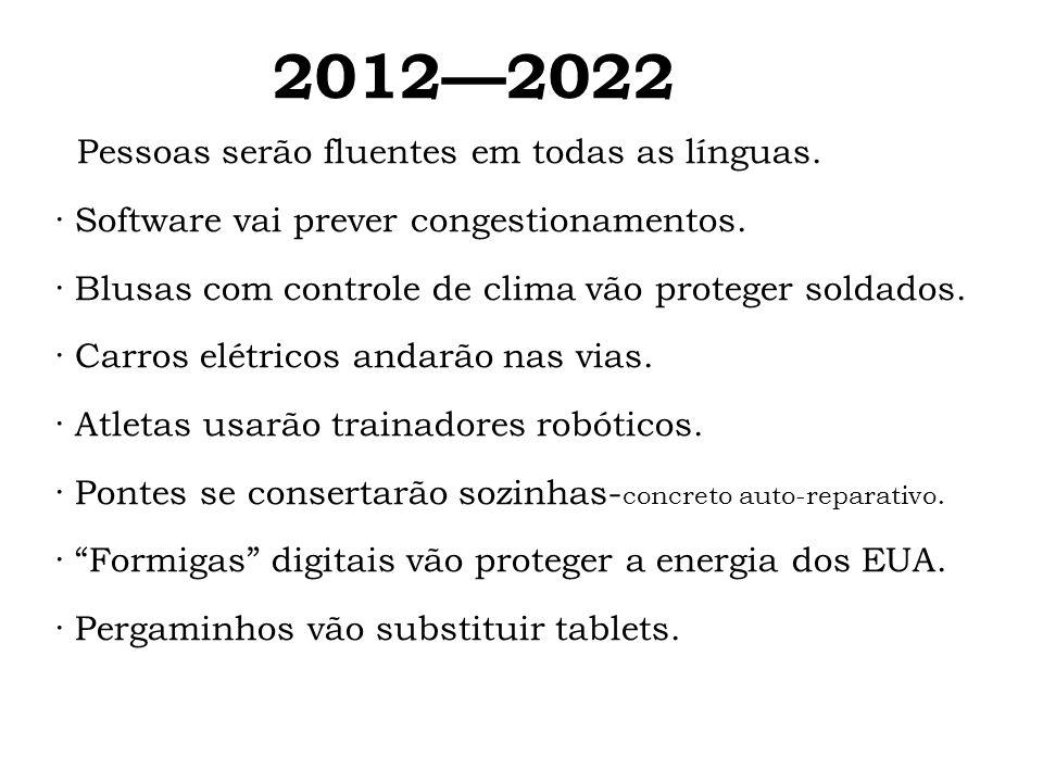 2012—2022 Pessoas serão fluentes em todas as línguas.