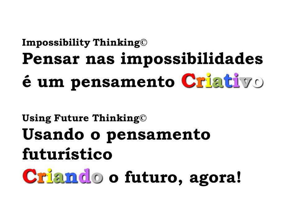 Criando o futuro, agora! Pensar nas impossibilidades