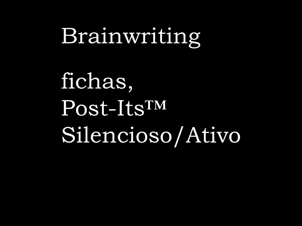 Brainwriting fichas, Post-Its™ Silencioso/Ativo