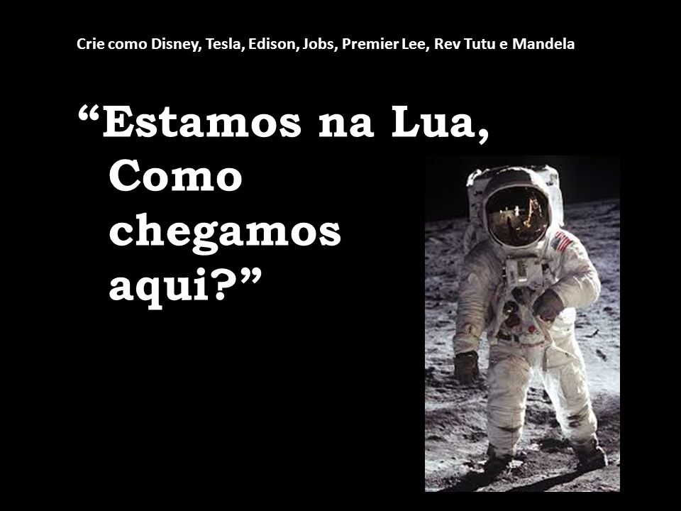 Estamos na Lua, Como chegamos aqui