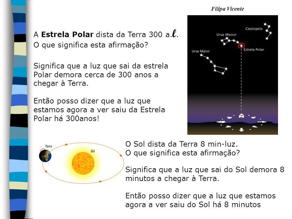 A Estrela Polar dista da Terra 300 a.l.