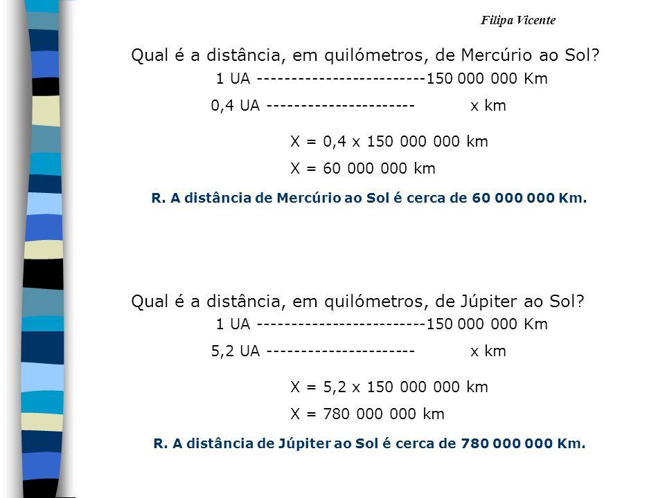 Qual é a distância, em quilómetros, de Mercúrio ao Sol