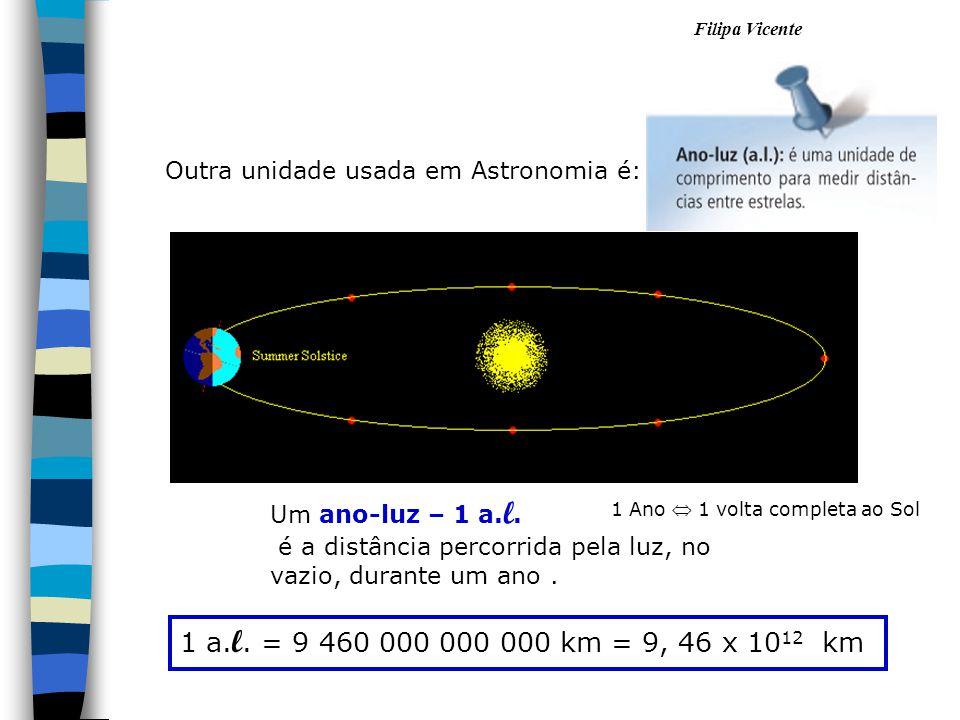 Outra unidade usada em Astronomia é: