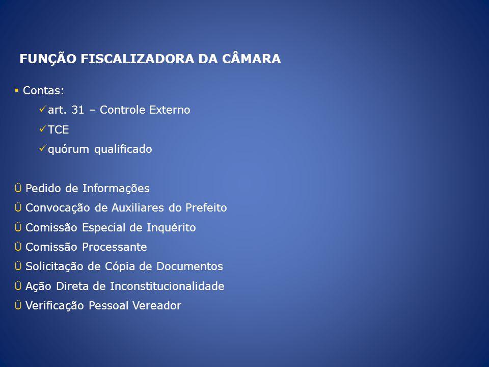 FUNÇÃO FISCALIZADORA DA CÂMARA