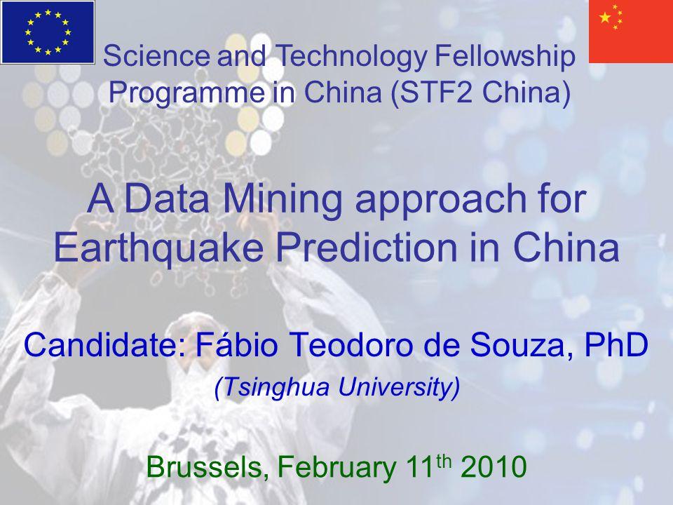 Candidate: Fábio Teodoro de Souza, PhD (Tsinghua University)