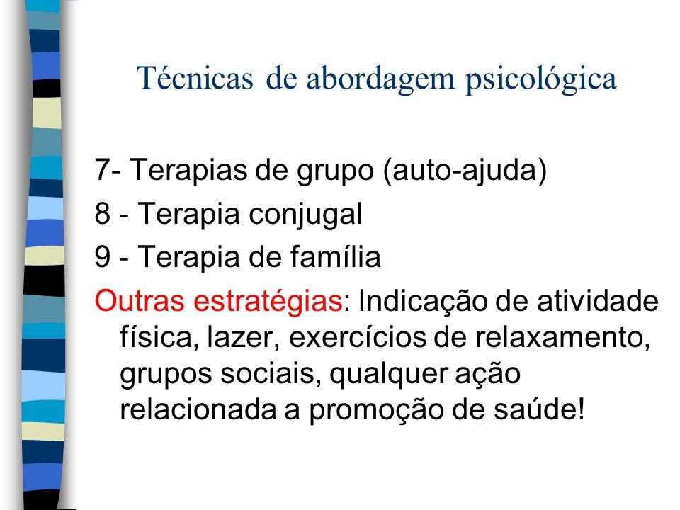 Técnicas de abordagem psicológica