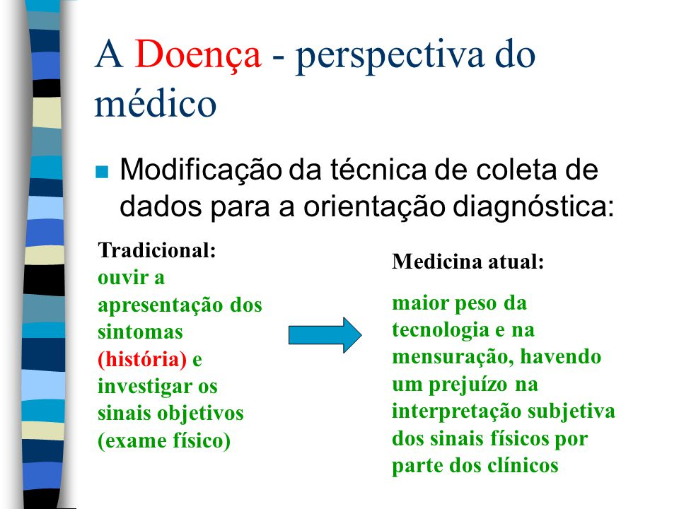 A Doença - perspectiva do médico