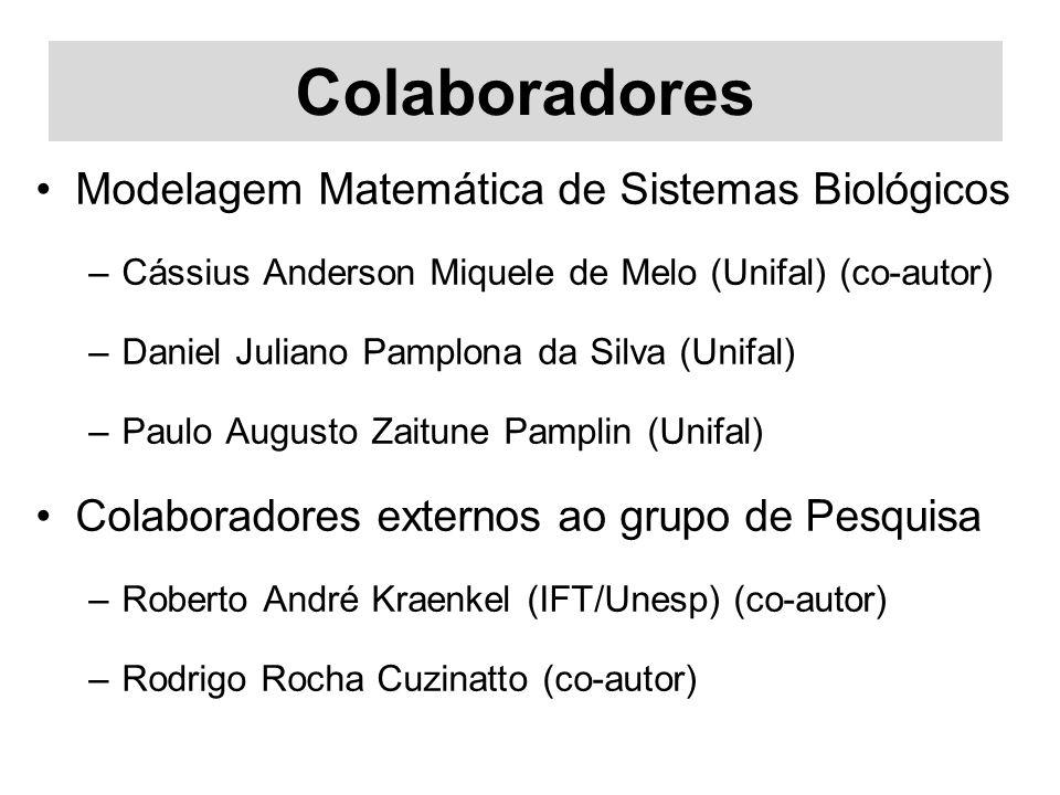 Colaboradores Modelagem Matemática de Sistemas Biológicos