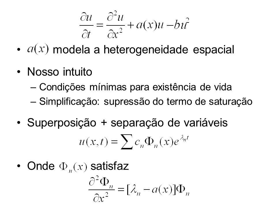 modela a heterogeneidade espacial Nosso intuito