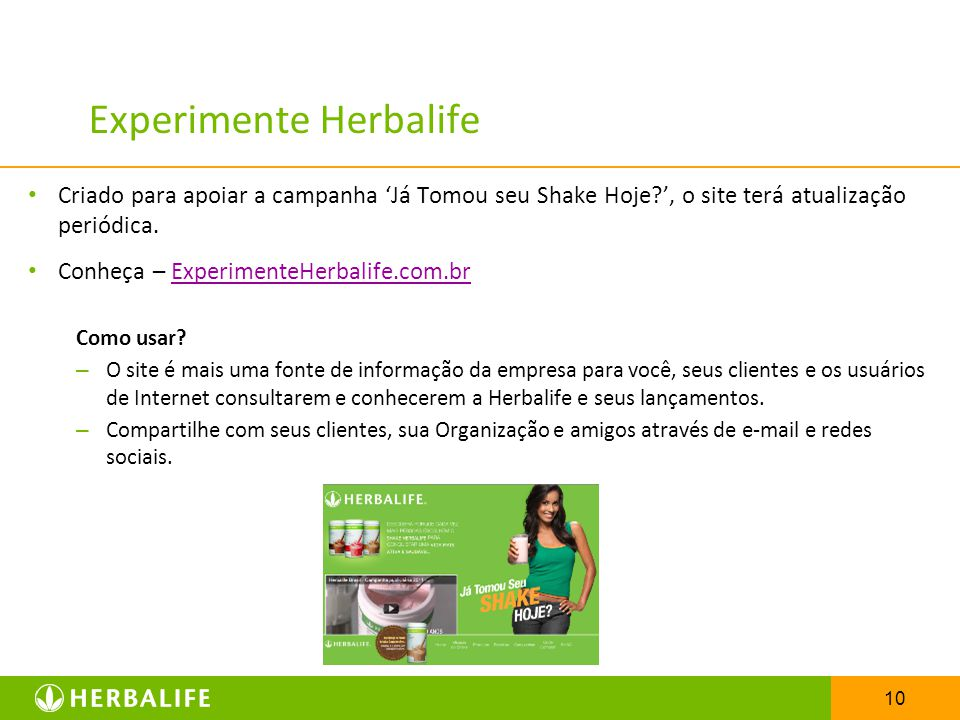 Experimente Herbalife