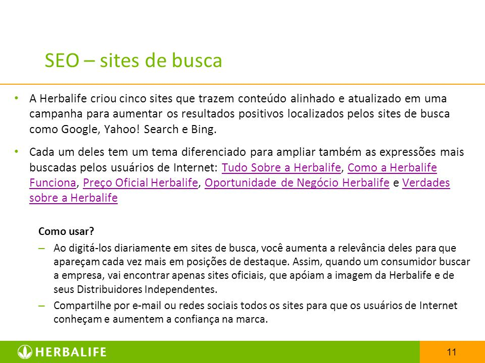 SEO – sites de busca