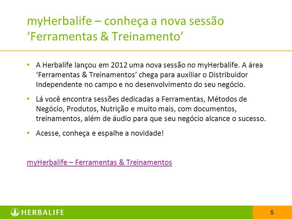 myHerbalife – conheça a nova sessão 'Ferramentas & Treinamento'