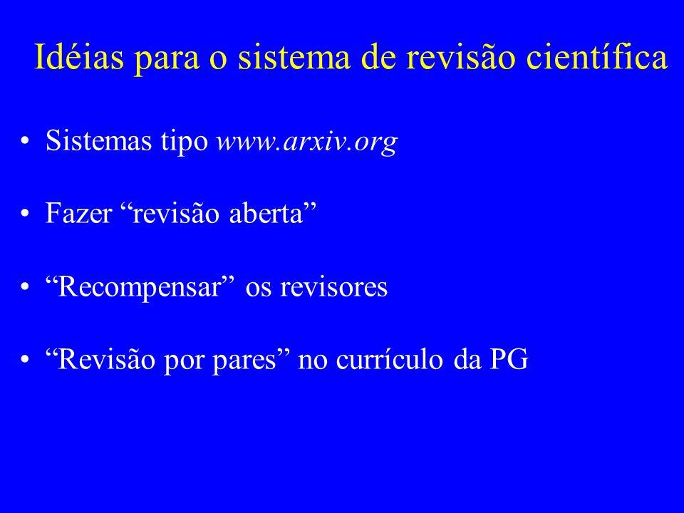 Idéias para o sistema de revisão científica