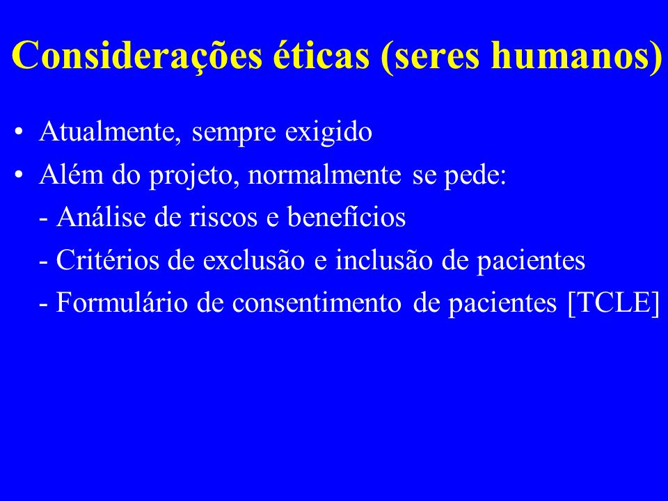 Considerações éticas (seres humanos)