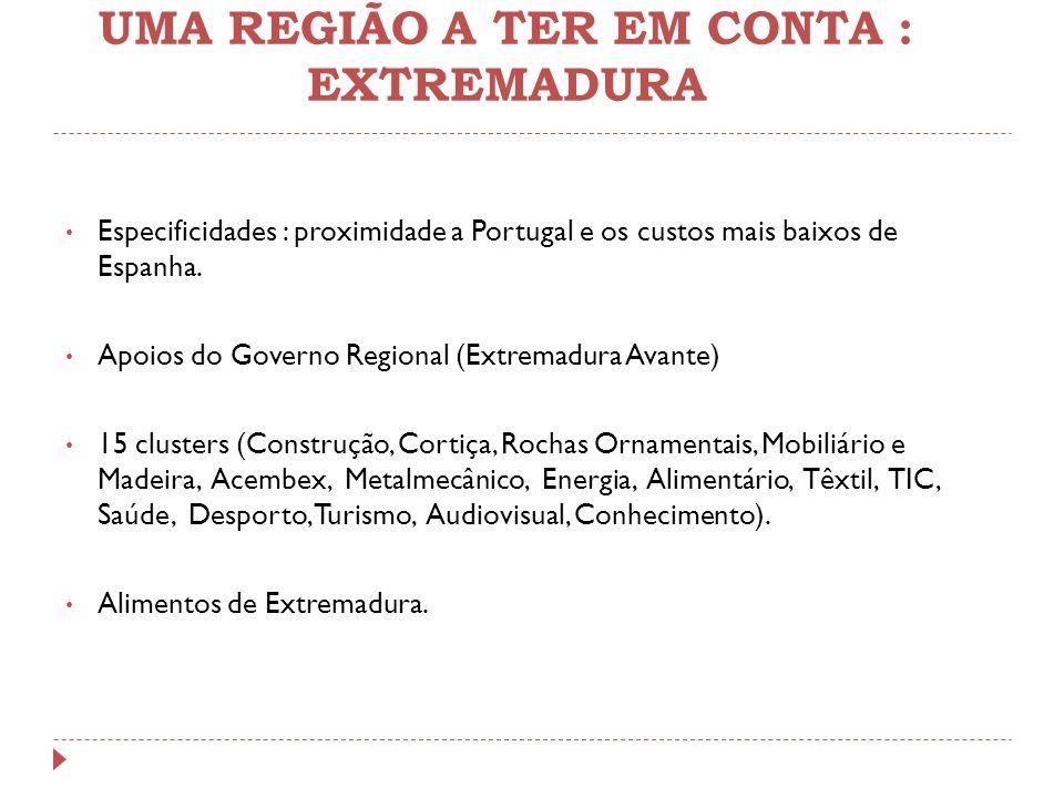 UMA REGIÃO A TER EM CONTA : EXTREMADURA