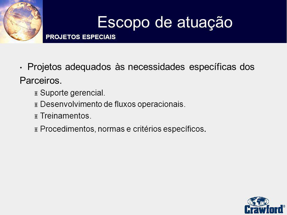 Escopo de atuação PROJETOS ESPECIAIS. Projetos adequados às necessidades específicas dos Parceiros.