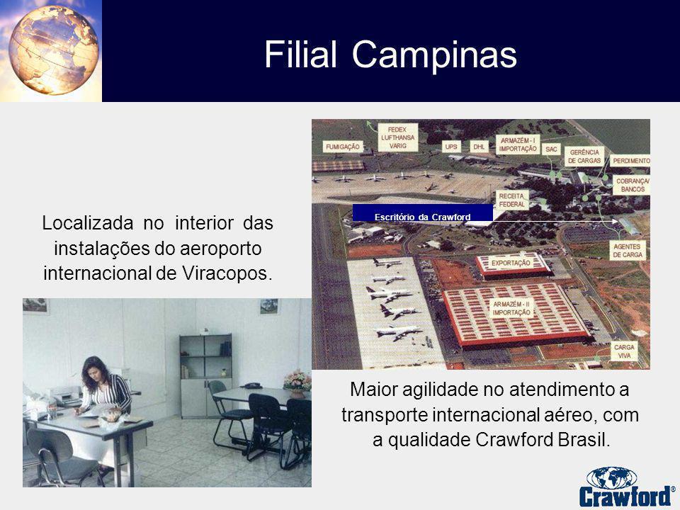 Filial Campinas Localizada no interior das instalações do aeroporto