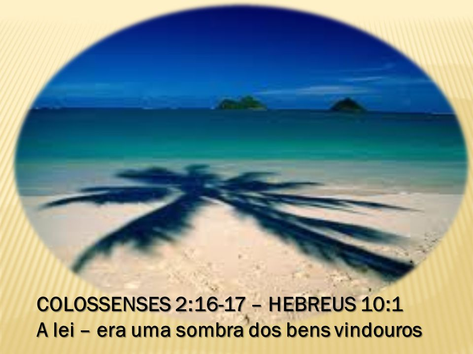 COLOSSENSES 2:16-17 – HEBREUS 10:1