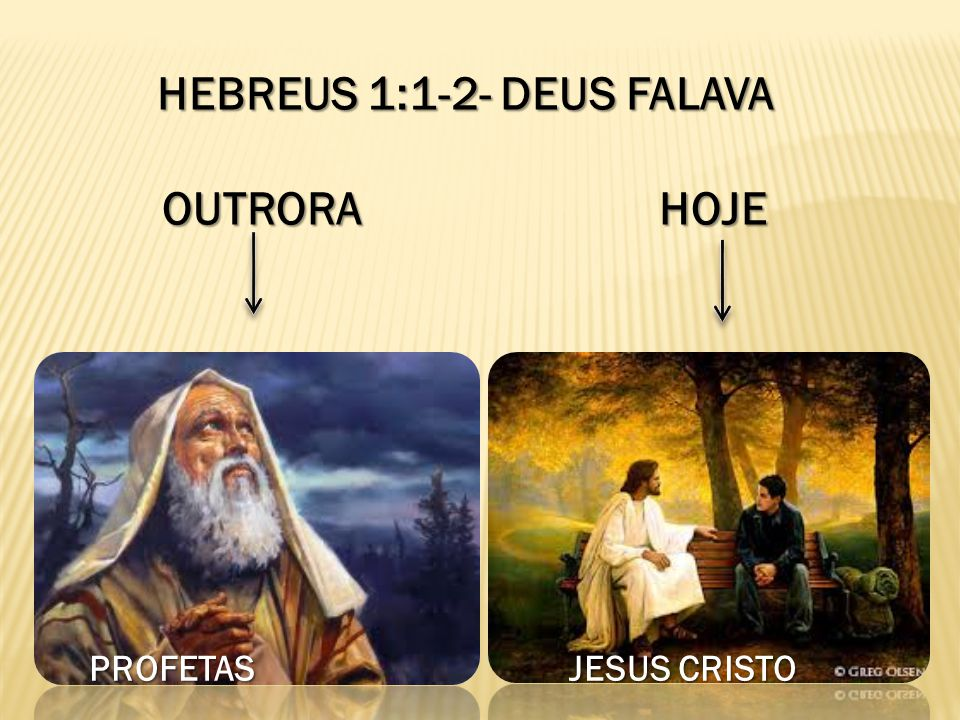 HEBREUS 1:1-2- DEUS FALAVA