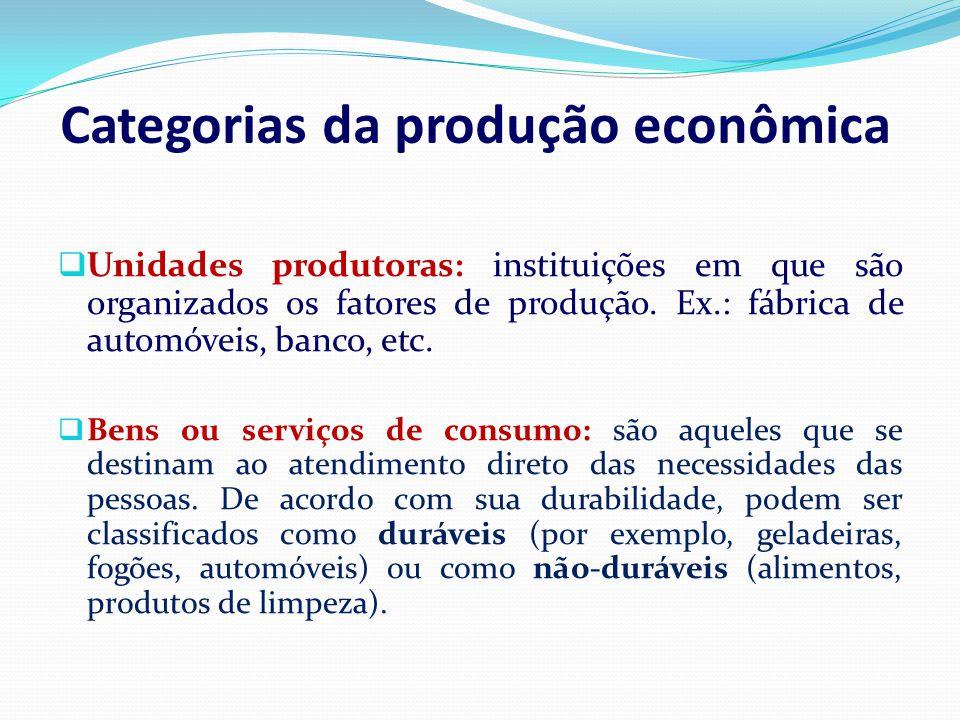 Categorias da produção econômica