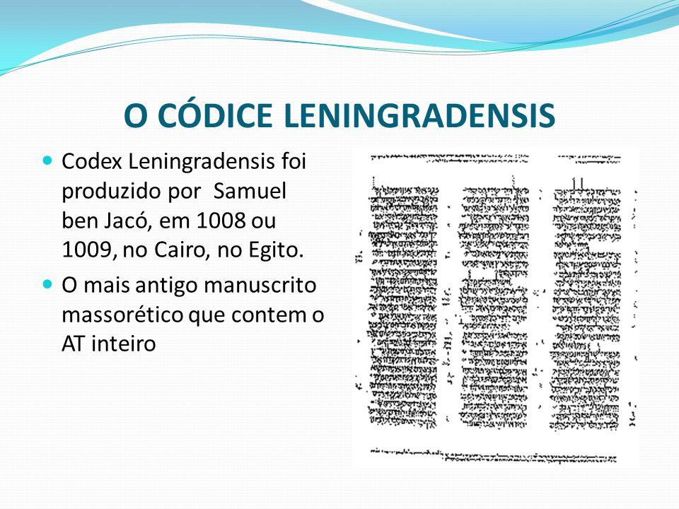 O CÓDICE LENINGRADENSIS