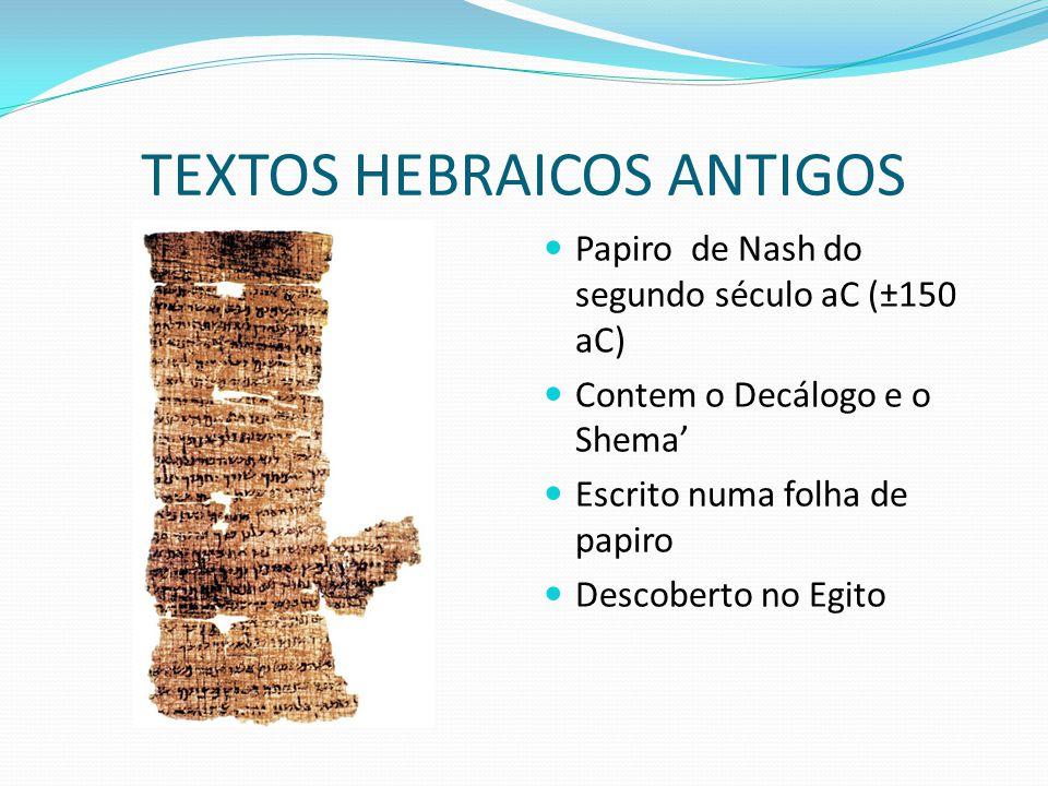 TEXTOS HEBRAICOS ANTIGOS