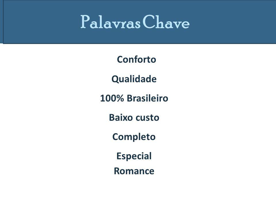 Palavras Chave Conforto Qualidade 100% Brasileiro Baixo custo Completo