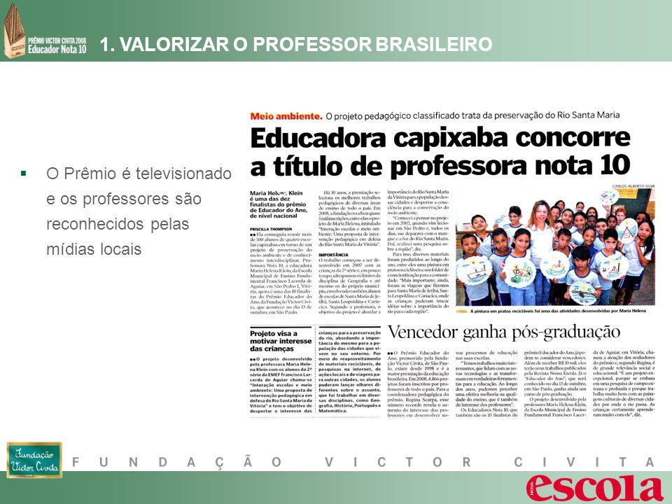 1. VALORIZAR O PROFESSOR BRASILEIRO