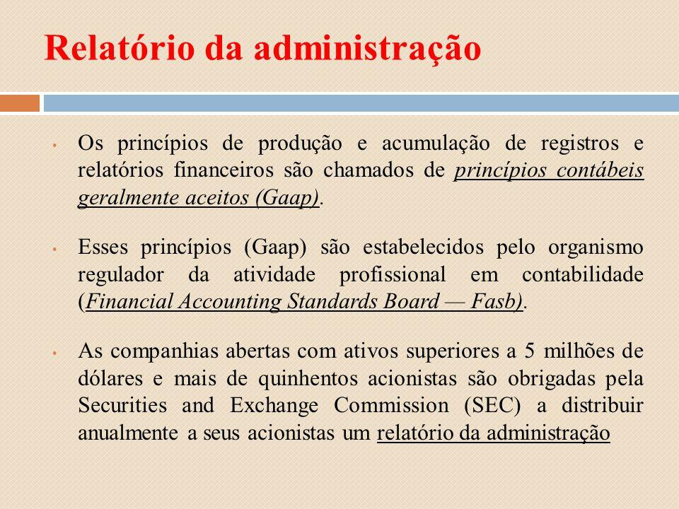 Relatório da administração