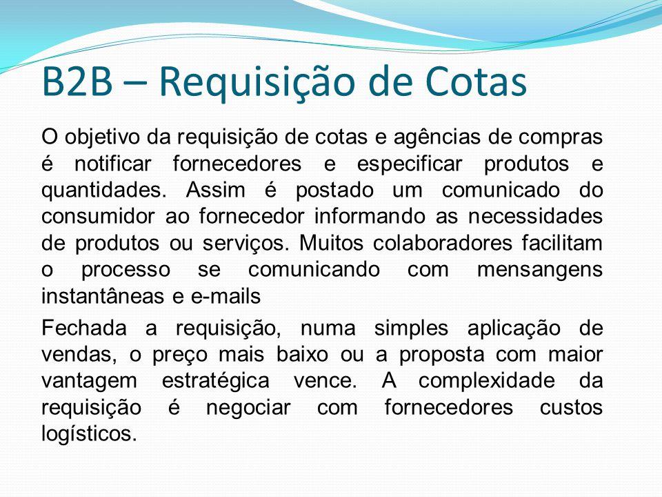 B2B – Requisição de Cotas