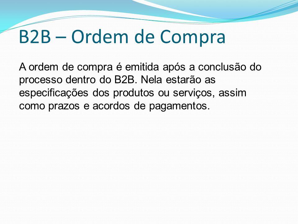 B2B – Ordem de Compra
