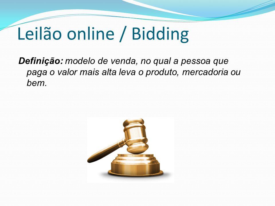 Leilão online / Bidding