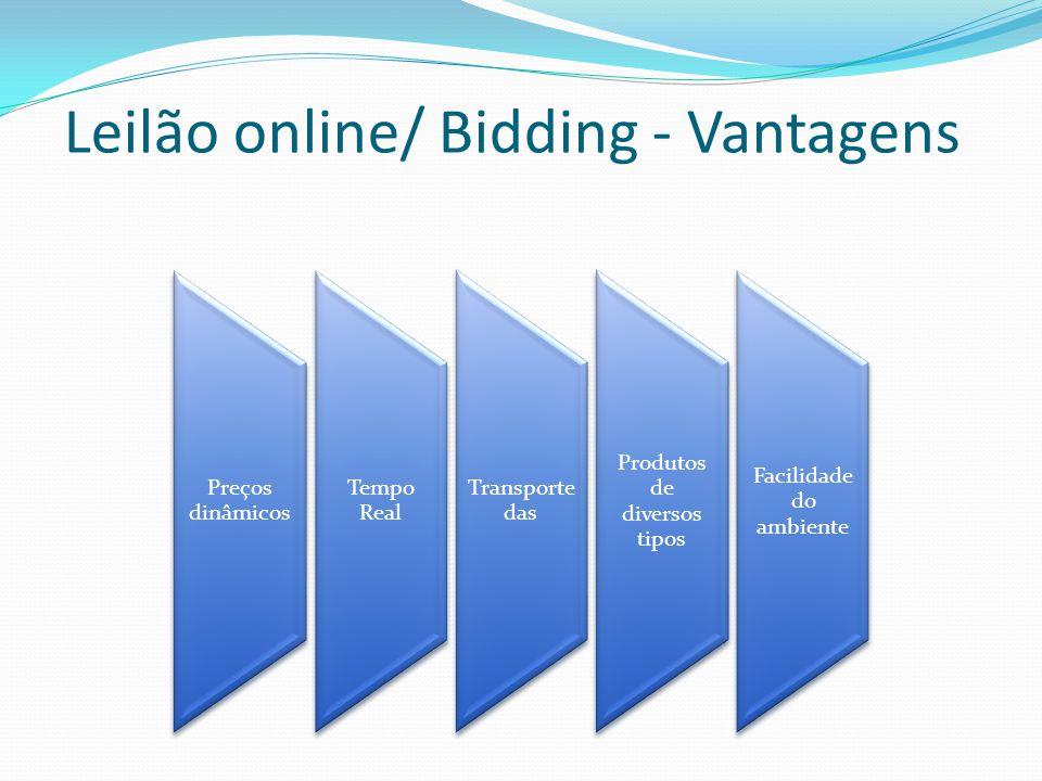 Leilão online/ Bidding - Vantagens