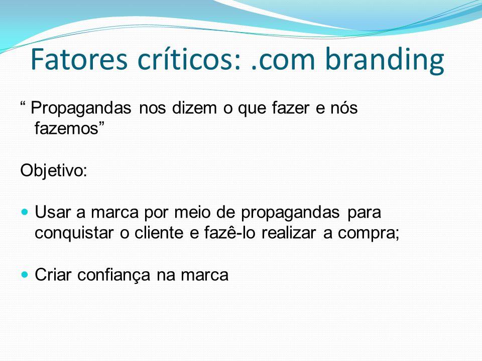 Fatores críticos: .com branding