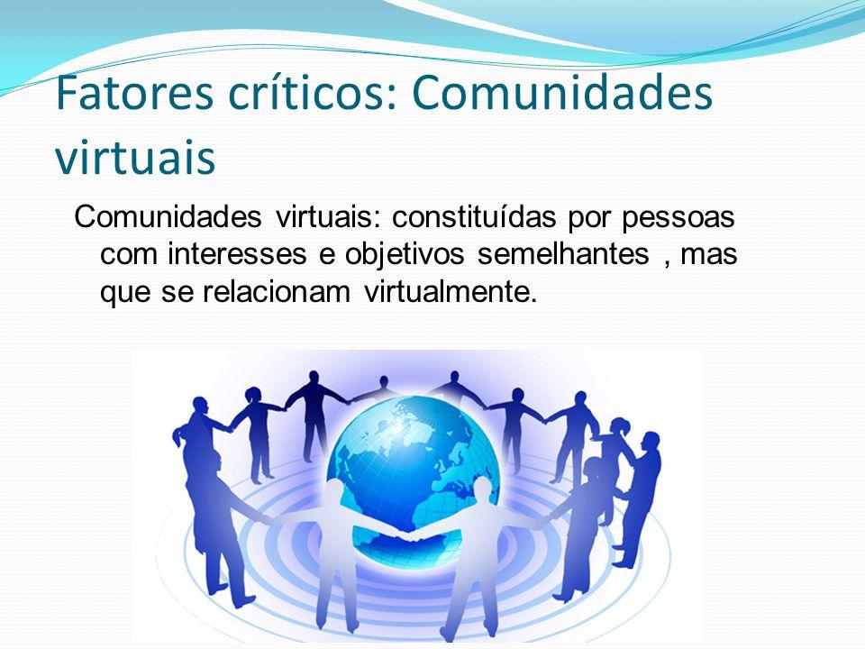Fatores críticos: Comunidades virtuais