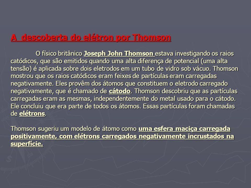 A descoberta do elétron por Thomson