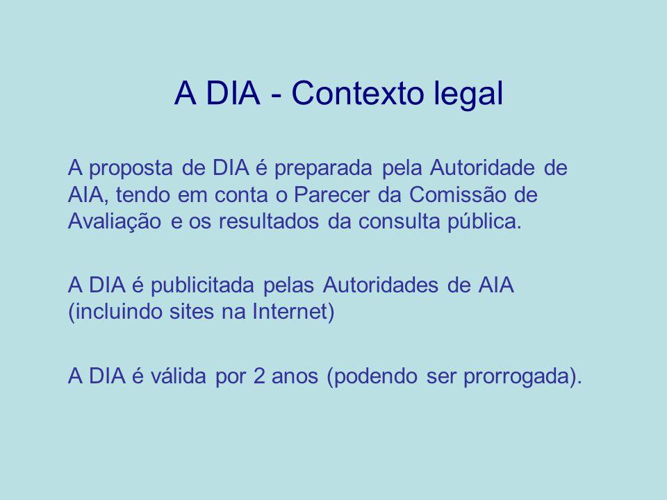 A DIA - Contexto legal